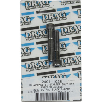 Drag Specialties Starter Bolt Kit for Harley M-Eight - Black Chrome