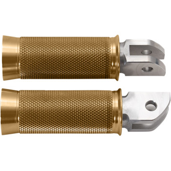 Speed Merchant Cruiser Pegs Foot Pegs for 2018 Harley Softail - Gold