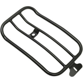 """Motherwell 7"""" Solo Luggage Rack for 2007-2017 Harley Fat Boy* - Gloss Black"""