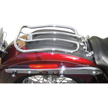 "Motherwell 7"" Solo Luggage Rack for 2005-2017 Harley Softail FLSTN/FLSTF - Chrome"