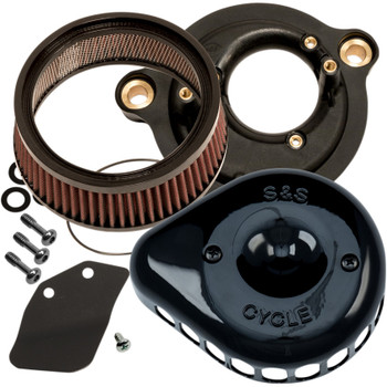 S&S Mini Teardrop Stealth Air Cleaner Kit for 2017-2020 Harley M8 - Black