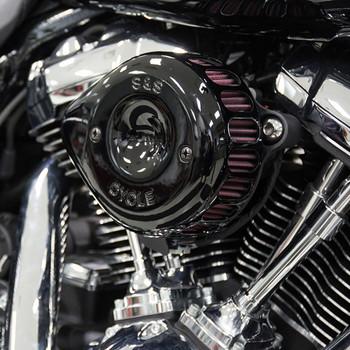 S&S Mini Teardrop Stealth Air Cleaner Kit for 2017-2019 Harley Milwaukee Eight - Black