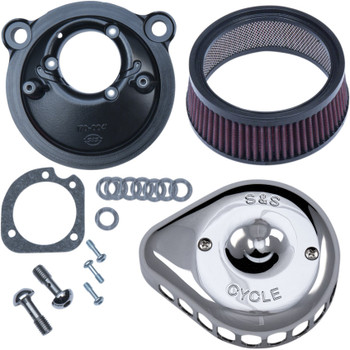 S&S Mini Teardrop Stealth Air Cleaner Kit for 2007-2018 Harley Sportster - Chrome