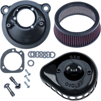 S&S Mini Teardrop Stealth Air Cleaner Kit for 2007-2018 Harley Sportster - Black