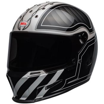 Bell Eliminator Outlaw Gloss Black/White Helmet