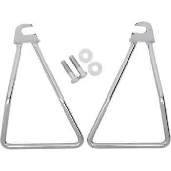 Drag Specialties Chrome Saddlebag Support Brackets