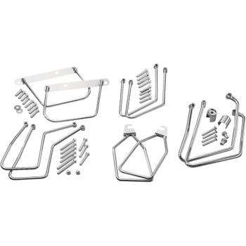 Drag Specialties Chrome Saddlebag Support Brackets
