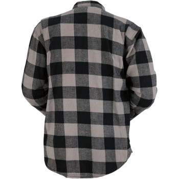 Z1R Duke Flannel Shirt - Grey/Black