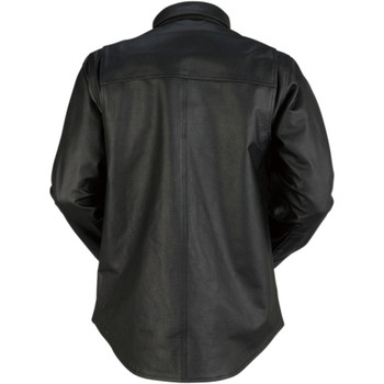 Z1R Motz Leather Moto Shirt - Black