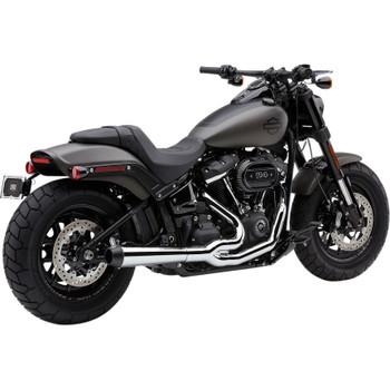 Cobra El Diablo 2-Into-1 Exhaust for 2018-2020 Harley Fat Bob - Chrome