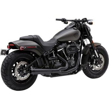 Cobra El Diablo 2-Into-1 Exhaust for 2018 Harley Fat Bob - Black