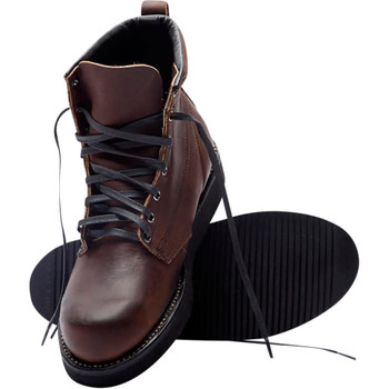 Broken Homme James Leather Boots - Oxblood Red