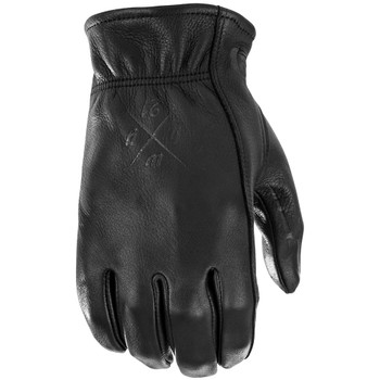 First Mfg. Louie Black Leather Gloves