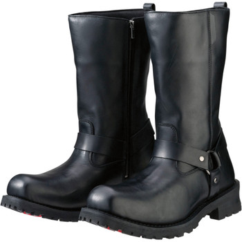 Z1R Riot Leather Boots - Black
