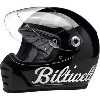 Biltwell Lane Splitter Helmet - Factory Gloss Black
