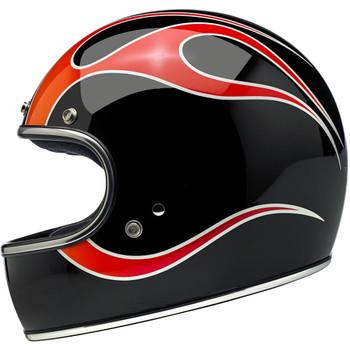 Biltwell Gringo ECE Helmet - DICE Flames