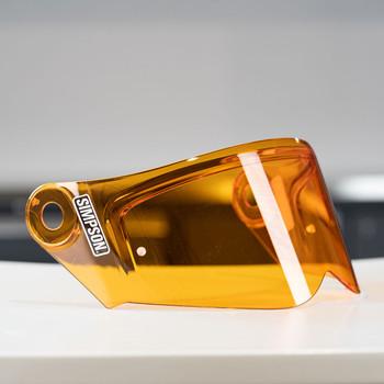 Simpson Mod Bandit Helmet Face Shield - Amber