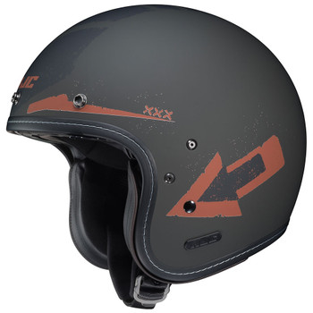 HJC IS-5 Helmet - Arrow Matte Gray/Orange