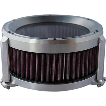 Trask Assault Charge High-Flow Air Cleaner for 2008-2017 Harley* - Raw Machined