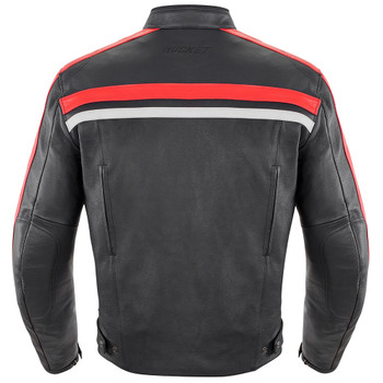 Joe Rocket Old School 2.0 Leather Jacket - Black/Red