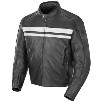 Joe Rocket Old School 2.0 Leather Jacket - Black/Grey