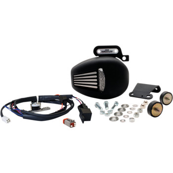 Jims Forceflow Cylinder Head Cooler Kit for 2017-2018 Harley Touring - Black