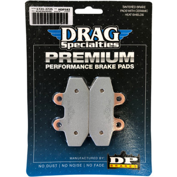 Drag Specialties Premium Sintered Metal Rear Brake Pads for 2018-2019 Harley Softail - Repl. OEM #41300197