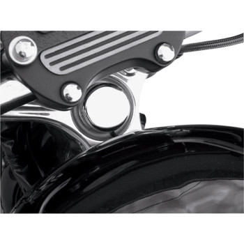 Drag Specialties Steering Stem Bolt Cover for 1987-2018 Harley - Chrome