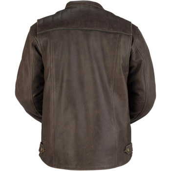 Z1R Indiana Leather Jacket - Brown