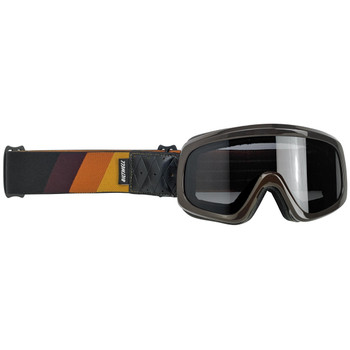Biltwell Overland 2.0 Tri-Stripe Goggle - Gold/Rust/Brown
