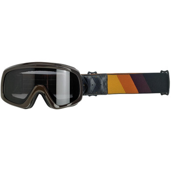 Biltwell Overland 2.0 Tri-Stripe Goggle - Gold/Rust/Brown