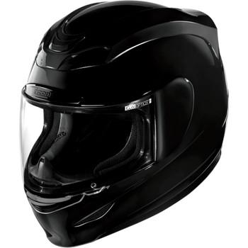 Icon Airmada Solid Color Helmet - Black