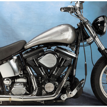 Drag Specialties One-Piece  Smooth-Top Style Extended Gas Tank for 1984-1999 Harley Softail - Aero Cap