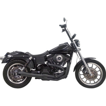 Bassani Road Rage 2 Short Exhaust for 1991-2005 Harley Dyna - Black