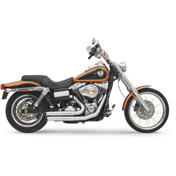 Bassani Fire Sweep Exhaust for 2006-2017 Harley Dyna - Chrome