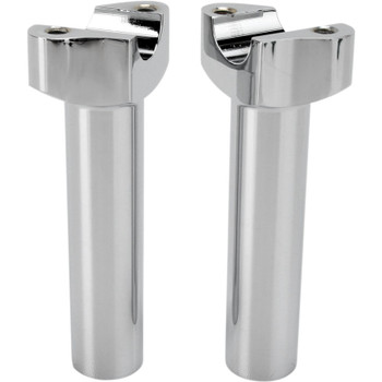 "Drag Specialties 5.5"" Forged Aluminum Straight Handlebar Risers - Chrome"