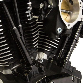 S&S Quickee Pushrod Kit with Covers for 1999-2017 Harley Twin Cam - Gloss Black