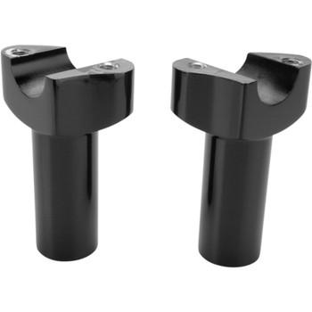 "Drag Specialties 3.5"" Forged Aluminum Straight Handlebar Risers - Black"