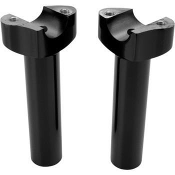 "Drag Specialties 5.5"" Forged Aluminum Straight Handlebar Risers - Black"