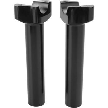 "Drag Specialties 6.5"" Forged Aluminum Straight Handlebar Risers - Black"