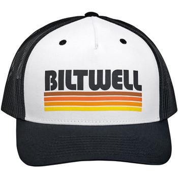 Biltwell Surf Snap Back Hat - Black/White/Orange