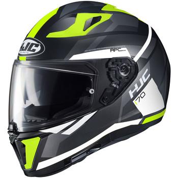 HJC i70 Elim Helmet - Hi Viz/Black
