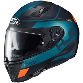 HJC i70 Karon Helmet - Teal/Black/Orange