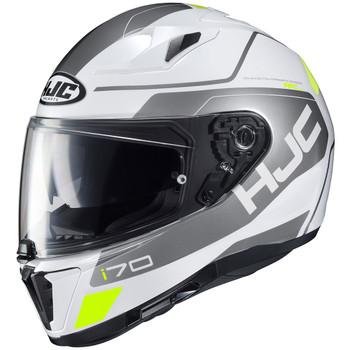 HJC i70 Karon Helmet - White/Silver/Hi Viz