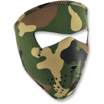 Zan Headgear Woodland Camo Small Face Mask