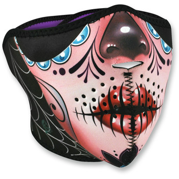 Zan Headgear Sugar Skull Half Face Mask