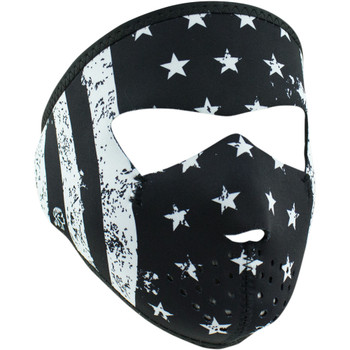 Zan Headgear Black/White Flag Small Face Mask