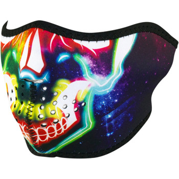 Zan Headgear Neon Skull Half Face Mask
