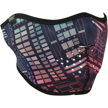 Zan Headgear Neon Circuit Half Face Mask