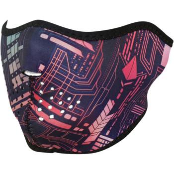 Zan Headgear Neon Circuit Half Face Mask